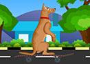 Kaykay Süren Köpek Oyunu